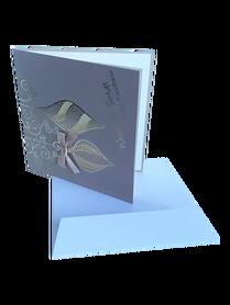 KARTKA BOŻONARODZENIOWA * Bombki z Kokardą * kawowy * kartka pocztowa